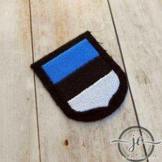 Militaria: ESCUDO DE MANGA DE LAS WAFFEN SS, ESTONIA. Lote 105257067