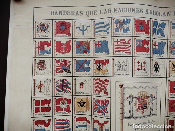 Militaria: Banderas que las naciones arbolan en la mar- MDCCVI - Museo Naval-1975 - Foto 3 - 201953247