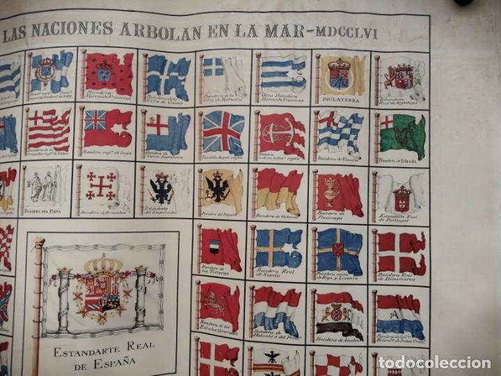 Militaria: Banderas que las naciones arbolan en la mar- MDCCVI - Museo Naval-1975 - Foto 4 - 201953247