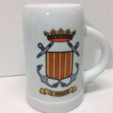 Militaria: JARRA MILITAR T.A ARAGÓN 12X11CM. Lote 202832778