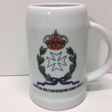 Militaria: JARRA MILITAR HOSPITAL MILITAR GENERALÍSIMO FRANCO 12X12CM. Lote 202832795
