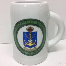 Militaria: JARRA MILITAR INFANTERÍA DE MARINA DOCTRINARE -JUNTA DE REGLAS 12X12CM. Lote 202832797