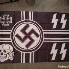Militaria: BANDERA NAZI SS HITLER III REICH II GUERRA MUNDIAL. Lote 204807017