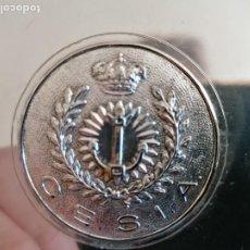 Militaria: DOS CENICEROS MILITAR METAL PLATEADO. Lote 205511590