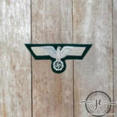 Militaria: ÁGUILA DE PECHO PARA OFICIALES WEHRMACHT, ARMY OFFICERS HAND EMBROIDERED BREAST EAGLE,. Lote 205611568