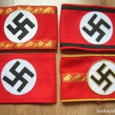 Militaria: COLECCION DE BRAZALETES DEL PARTIDO NACIONALSOCIALISTA. PARTIDO NAZI. NSDAP. SS. TERCER REICH.. Lote 205724706