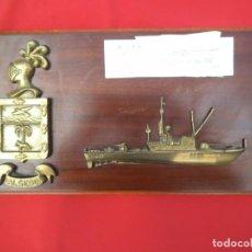 Militaria: METOPA DE GRAN TAMAÑO DEL PATRULLERO ALSEDO MIDE 50 X 25 CTMS.. Lote 206821742