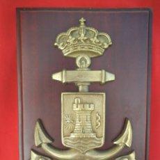 Militaria: METOPA DE LA AYUDANTIA MILITAR DE MARINA DE MARBELLA. Lote 206822027