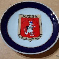 Militaria: MATRA - GRUPO CUARTEL GENERAL - CENICERO / PLATO - CERAMICAS MARIBEL CARTAGENA - 14 CM. Lote 206943705