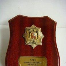 Militaria: METOPA CON PLACA DEL AÑO 1954 CUERPO GENERAL DE POLICIA. Lote 207101502