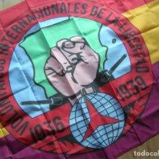 Militaria: BANDERA REPUBLICANA.BRIGADAS INTERNACIONALES.VOLUNTARIOS DE LA LIBERTAD.1936-1939 EXCELENTE REPLICA.. Lote 210054091