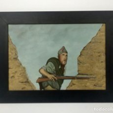 Militaria: LA LEGION. TERCIO DE EXTRAJENEROS. MARRUECOS. ÁFRICA. SAHARA. ÓLEO SOBRE LIENZO FIRMADO.. Lote 210075256