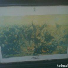 Militaria: BATALLA DE TREVIÑO ACADEMIA DE CABALLERIA 68X92CM. Lote 211627392