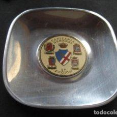 Militaria: CENICERO METAL CAPITANIA GENERAL MILITAR 5ª REGION. ZARAGOZA - HUESCA - TERUEL - SORIA. Lote 211970145