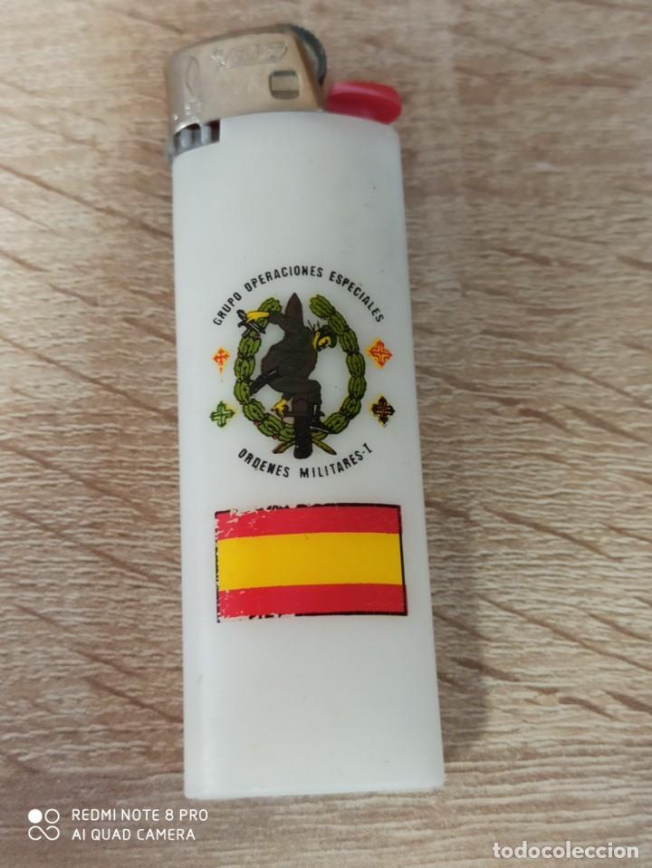 Militaria: MECHERO GRUPO DE OPERACIONES ESPECIALES ORDENES MILITARES I GUERILLERO GOE MOE GOES COE BOINA VERDE - Foto 2 - 214251471
