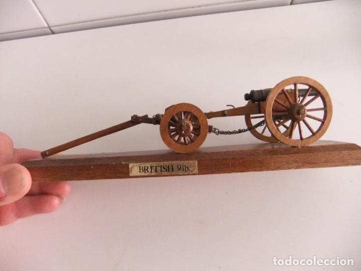 Militaria: cañon miniatura con armon - Foto 2 - 215066962