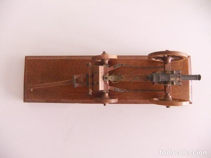 Militaria: cañon miniatura con armon - Foto 3 - 215066962
