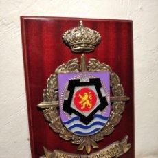 Militaria: METOPA MILITAR (RGTO. DE PONTONEROS E INGENIEROS Nº 12) - 28X18 CM. PLACA Y ESCUDO ESPAÑA. Lote 215820683