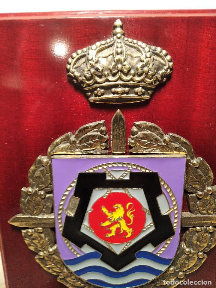 Militaria: METOPA MILITAR (RGTO. DE PONTONEROS E INGENIEROS Nº 12) - 28X18 CM. PLACA Y ESCUDO ESPAÑA - Foto 5 - 215820683