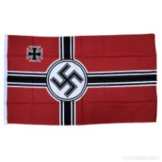 Militaria: BANDERA REICHSKRIEGSFAHNE 90 X 150 CM ALEMANIA TERCER REICH PARTIDO NAZI WEHRMACHT. Lote 253368430