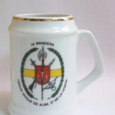 Militaria: JARRA TAZA TERCIO DUQUE DE ALBA 2º DE LA LEGION IV BANDERA. Lote 217706237