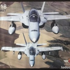 Militaria: PÓSTER DEL F-18 HORNET - EJERCITO DEL AIRE. Lote 217855277