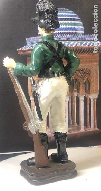 Militaria: FUSILERO 1870, EXCELENTE FIGURA MILITAR EN PASTA CERÁMICA, TAMAÑO GIGANTE (21 CM.). - Foto 4 - 194360917