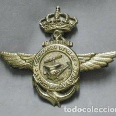Militaria: INSIGNIA EN BRONCE 1ª ESCUADRILLA DE HH/CC - A TODOS ENSEÑE A VOLAR FALTO DE METOPA - MET-207. Lote 218686243