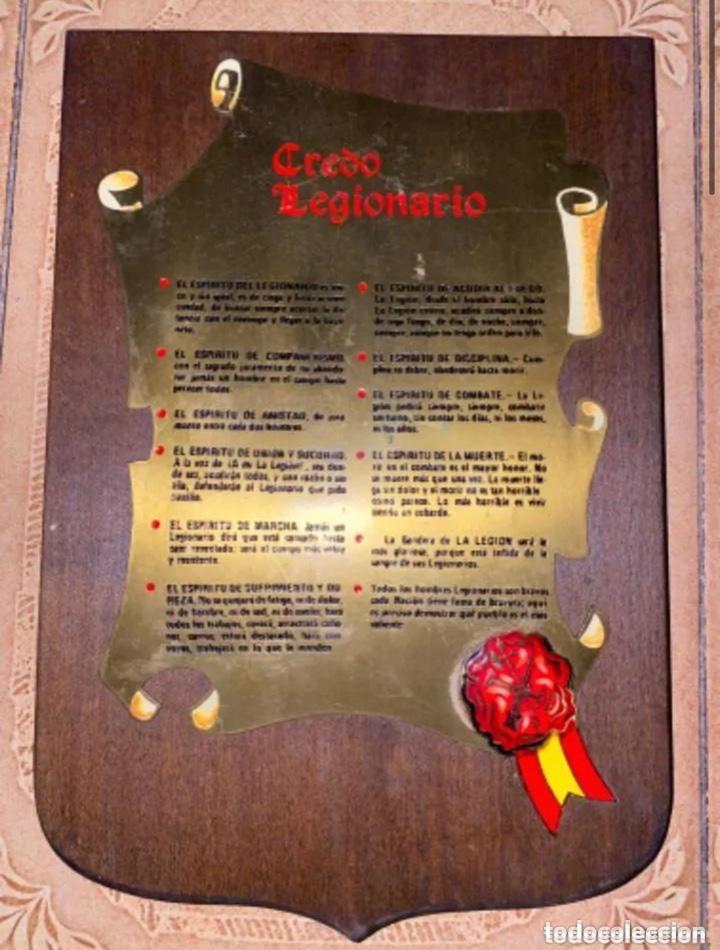 ANTIGUA METOPA CREDO LEGIONARIO LA LEGION (Militar - Reproducciones, Réplicas y Objetos Decorativos)