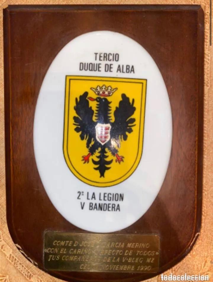 ANTIGUA METOPA TERCIO DUQUE DE ALBA SEGUNDA 2 LA LEGION V BANDERA (Militar - Reproducciones, Réplicas y Objetos Decorativos)