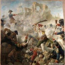 Militaria: LÁMINA CUADRO EL GRAN DÍA DE GERONA 19-9-1809. PINTOR: CÉSAR ÁLVAREZ. 1890. ESPAÑA. Lote 221335622