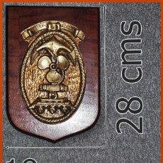 Militaria: 183/662..MAGNÍFICA METOPA ESCUELA DE MÁQUINAS....MIDE 28 X 19 CMS ....PESA 2, 300 KGS.. Lote 222081697