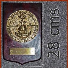 Militaria: 668..FLOTILLA MEDIDAS CONTRAMINAS...MIDE 28 X 17,5 CMS.....PESA 1, 300 KGS.. Lote 222087755