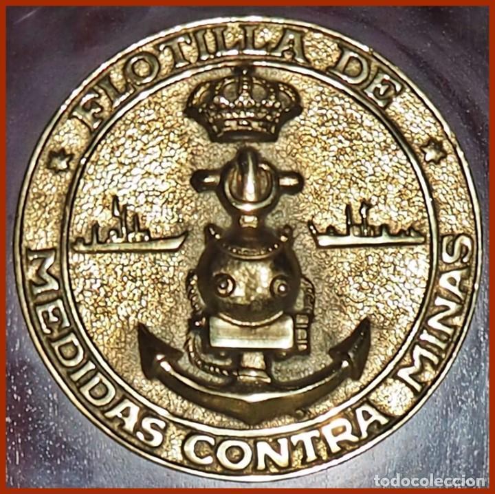 Militaria: 668..Flotilla Medidas Contraminas...Mide 28 x 17,5 cms.....Pesa 1, 300 kgs. - Foto 2 - 222087755
