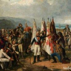 Militaria: LÁMINA CUADRO JURAMENTO DE LAS TROPAS DEL MARQUÉS DE LA ROMANA. GUERRA DE LA INDEPENDENCIA. Lote 222196560