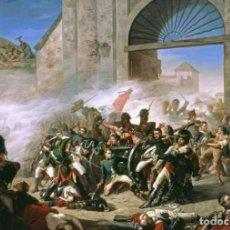 Militaria: LÁMINA CUADRO MUERTE DE DAOIZ Y DEFENSA DEL PARQUE DE MONTELEÓN, MADRID. GUERRA DE LA INDEPENDENCIA.. Lote 222196605