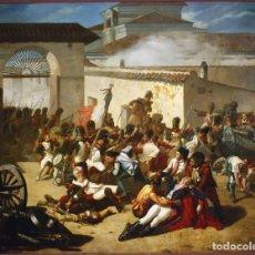 Militaria: LÁMINA CUADRO MUERTE DE VELARDE EL DOS DE MAYO DE 1808, MADRID. GUERRA DE LA INDEPENDENCIA. Lote 222196661