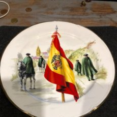 Militaria: GUARDIA CIVIL-ANTIGUO PLATO BANDERA SAN JUAN. D 25,5 CM. Lote 224216283