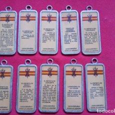Militaria: 10 CHAPAS CON EL CREDO DE LA LEGIÓN ,MIDEN 7 CTMS.. Lote 224357712