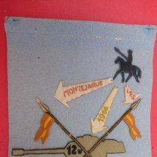 Militaria: VIEJO BANDERINCDE LA PROMOCION DE1966 MONTEJAQUE,,CABALLERIA..ORIGINAL DE EPOCA.. Lote 224365022