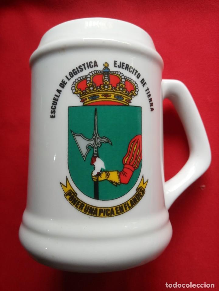 JARRA ESCUELA DE LOGÍSTICA EJERCITO DE TIERRA. (Militar - Reproducciones, Réplicas y Objetos Decorativos)