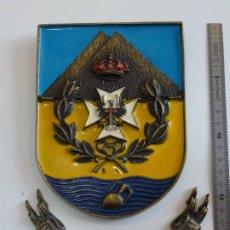 Militaria: METOPA HOSPITAL MILITAR MELILLA BRONCE - RARO. Lote 226593335