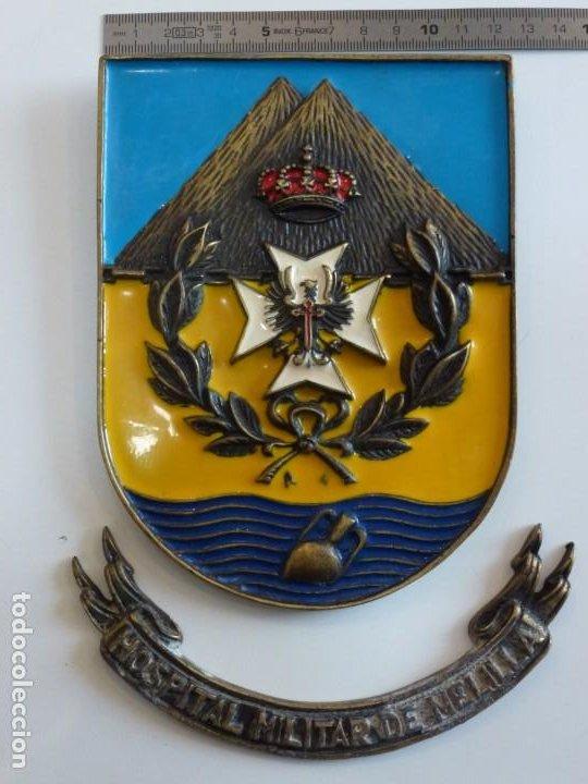 Militaria: Metopa Hospital Militar Melilla Bronce - Raro - Foto 2 - 226593335