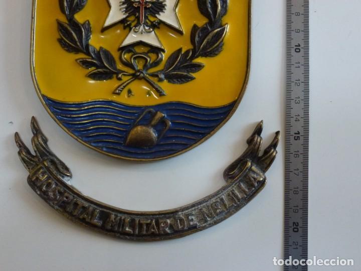 Militaria: Metopa Hospital Militar Melilla Bronce - Raro - Foto 4 - 226593335