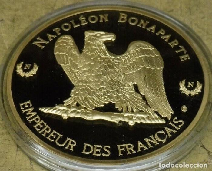 Militaria: GRAN MEDALLON XXL DE NAPOLEON BONAPARTE EN LA BATALLA DE WAGRAMEDICION MUY LIMITADA - Foto 3 - 227991200