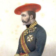 Militaria: LÁMINA CUADRO GENERAL TOMÁS DE ZUMALACARREGUI. GUERRAS CARLISTAS. SIGLO XIX. ESPAÑA. RÉPLICA ACTUAL. Lote 267626079