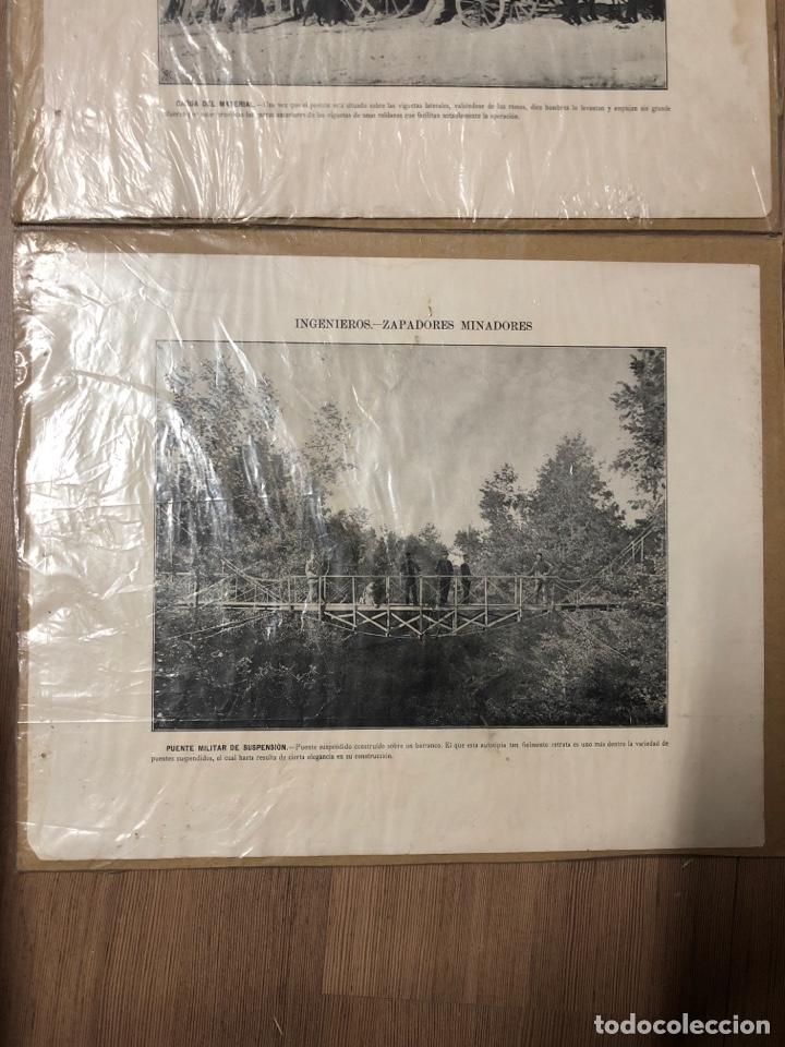 Militaria: Láminas antiguas de ingenieros pontoneros,zapadores minadores 27,5x34cm - Foto 2 - 228889640
