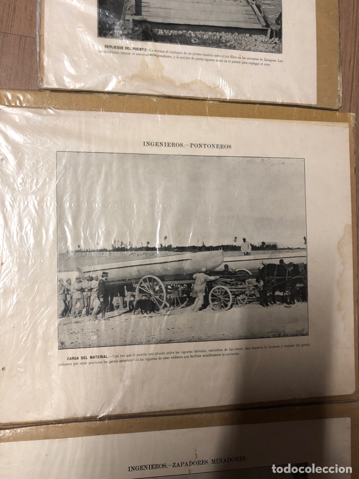 Militaria: Láminas antiguas de ingenieros pontoneros,zapadores minadores 27,5x34cm - Foto 3 - 228889640