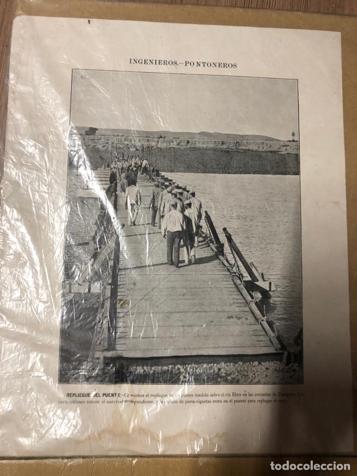 Militaria: Láminas antiguas de ingenieros pontoneros,zapadores minadores 27,5x34cm - Foto 4 - 228889640