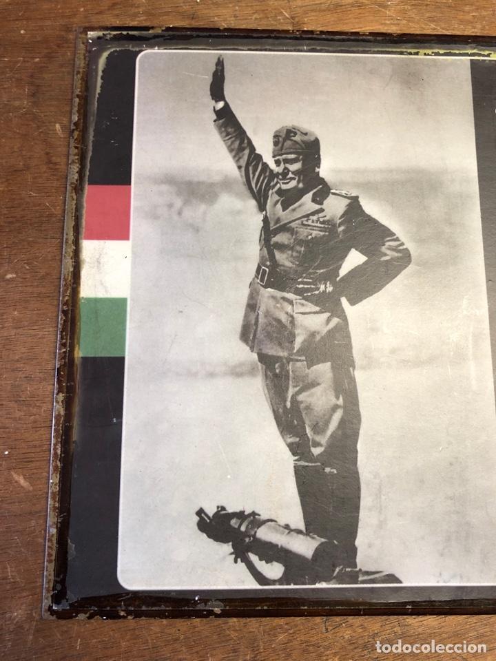 Militaria: Chapa de BENITO MUSSOLINI 35x26,5cm - Foto 2 - 231313030